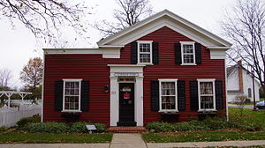 Maumee, Ohio - Greek Revival Townhouse built in the 1840s. Originally located on Wayne and Gibbs Street
