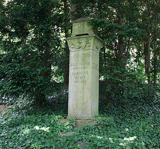 Max Weber - Weber's grave in Heidelberg