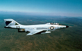 142nd Fighter Wing - A two-seat McDonnell F-101B Voodoo
