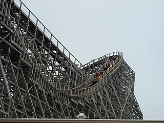 Wooden roller coaster type of roller coaster