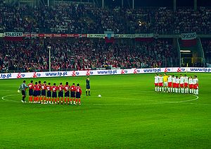 Sport in Poland - UEFA Euro 2008 qualifying – Poland vs Armenia in Kielce.