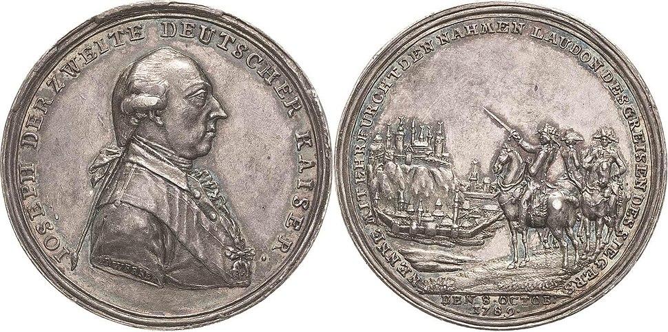 Medaille Einnahme Belgrads 1789