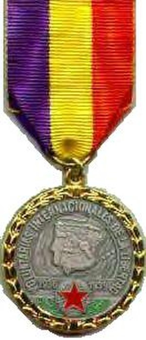 International Brigades - Spanish Civil War Medal awarded to the International Brigades