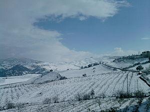 Médéa - Medea Under Snow during a 2012 winter