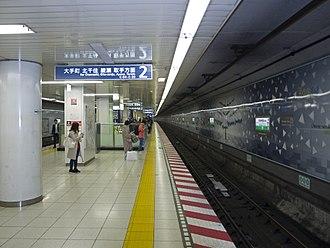 Meiji-jingumae Station - Chiyoda Line platforms
