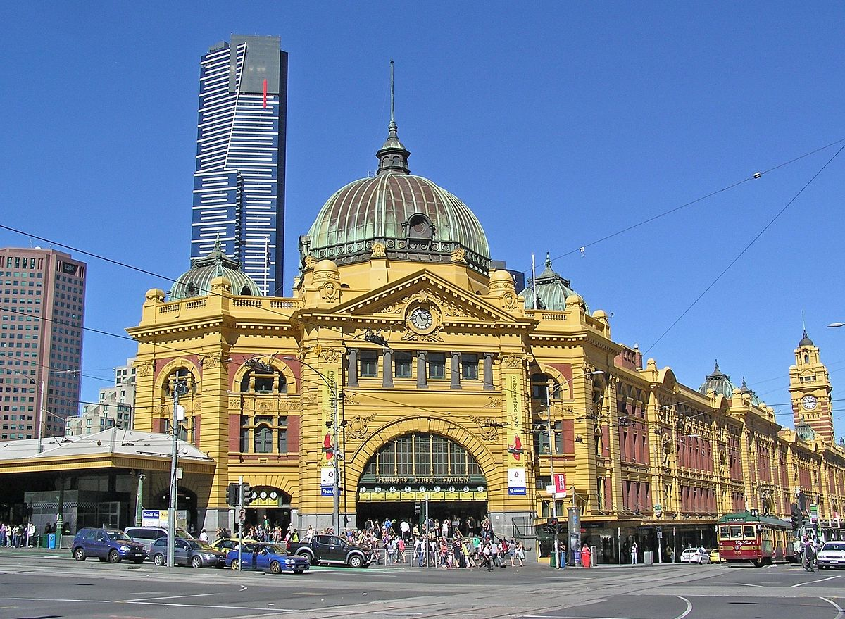 flinders street station simple english wikipedia the. Black Bedroom Furniture Sets. Home Design Ideas