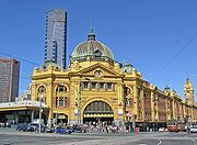 The centre of public transport in the Melbourne CBD, Flinders Street Station