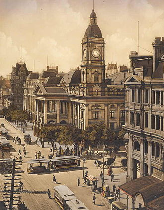 Melbourne Town Hall - Melbourne Town Hall, 1910