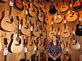 Melissa tries to choose her next guitar.jpg
