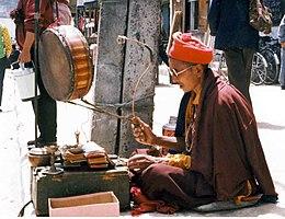Mendicant monk in Lhasa