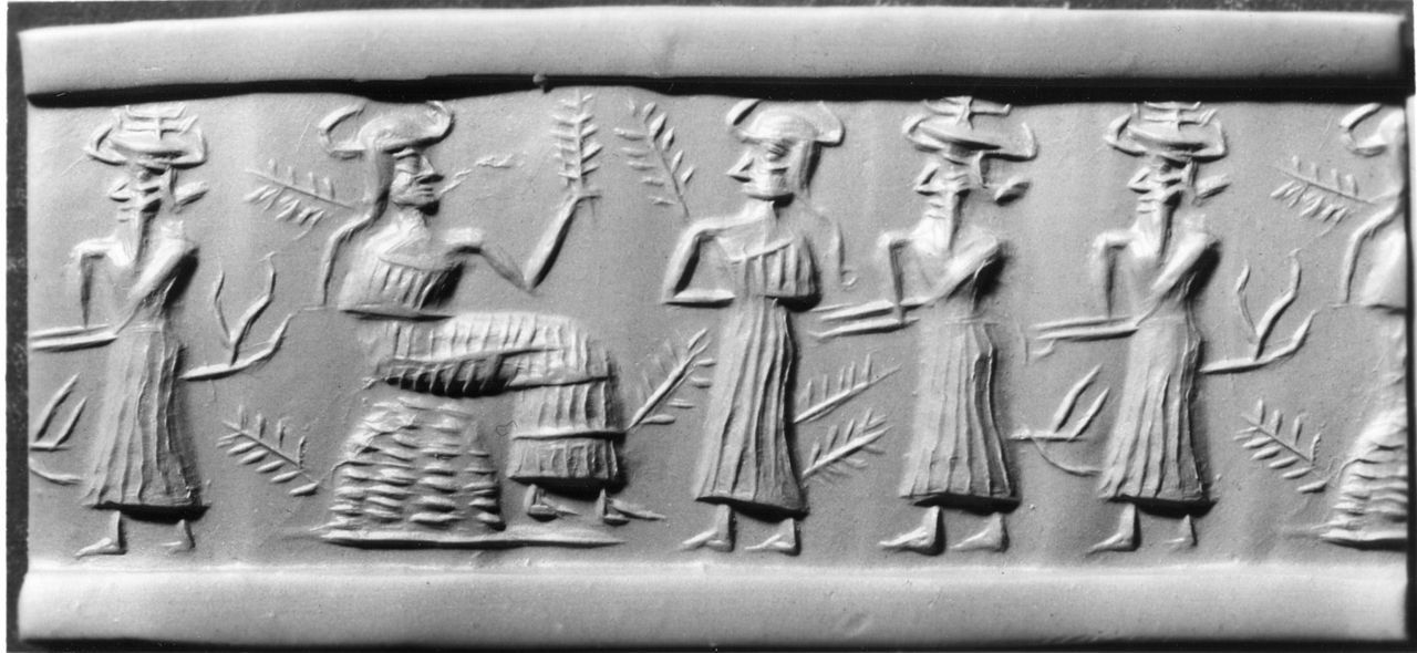 Mesopotamian - Cylinder Seal - Walters 42564 - Impression.jpg