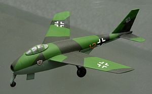 Messerschmitt P.1101 - Model of the P.1101 production version