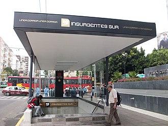 Metro Insurgentes Sur - Entrance