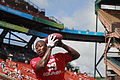 Miami Dolphins wide receiver Brandon Marshall practices during pregame warm up for the National Football League's 2012 Pro Bowl game at Aloha Stadium in Honolulu Jan 120129-M-DX861-039.jpg