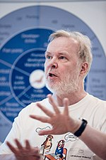 "Michael ""Monty"" Widenius at MariaDB's Developers Unconference 2019 in New York City 03.jpg"