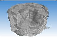 Micro-CT braided polymer rope 3D 10