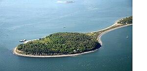 Peddocks Island - Middle Head and East Head of Peddocks Island.