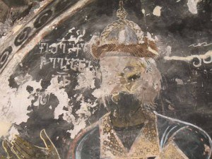 Svaneti - An 11th-century fresco of the Svan nobleman Mikael Chagiani from Adishi.