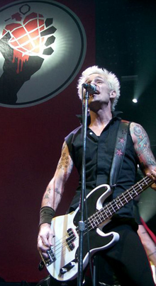 Mike Dirnt at mic in Cardiff.png