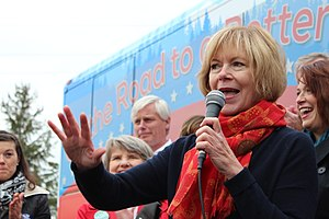 Tina Smith - DFL Candidate for Lt. Governor Tina Smith speaks at a 2014 campaign rally in Eagan, Minnesota.