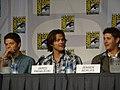 Misha Collins, Jared Padalecki & Jensen Ackles (4852642630).jpg
