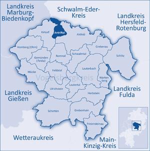 Antrifttal - Image: Mittelhessen Vogelsberg Ant