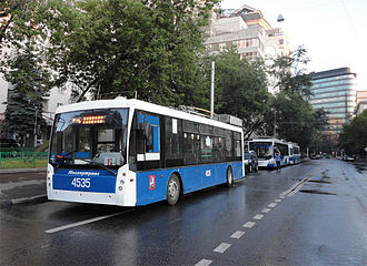 Public transport - Trolza trolleybus in Moscow – operating the world's largest trolleybus system