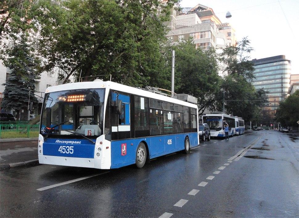 Modern Trolleybus in Moscow