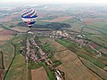 Modrá a Velehrad, letecký pohled s balónem.jpg