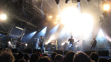 Mogwai playing at Somerset House, London, 7 July 2007 Mogwailive.jpg