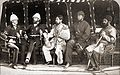 Mohammad Yaqub Khan with British officers in May of 1879.jpg