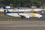 Mongolian Airlines Boeing 737-800 EI-CXV (6405411381).jpg