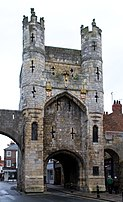 Photograph of the same stone gatehouse