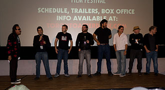 Toronto After Dark Film Festival - Cast and crew of the film Monster Brawl at the gala opening of the 2011 festival.