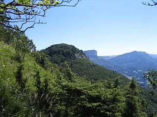 Mont Joigny mountain in the Chartreuse Mountains in Savoie, France