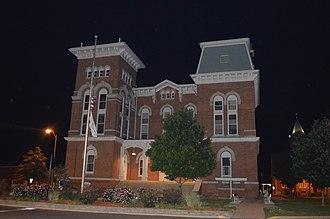 Montgomery County, Illinois - Image: Montgomery County Courthouse, Hillsboro