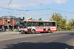 Moonee Valley Coaches bus on Mount Alexander Road on route 503, 2013.JPG