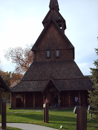 Moorhead, Minnesota - Replica of Norwegian stave church at the Hjemkomst Center