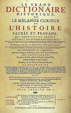 Louis Moréri - Le grand dictionaire historique