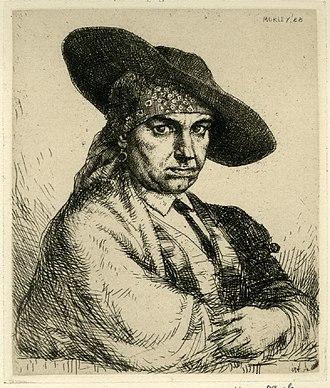 Harry Morley - Image: Morley Self Portrait etching