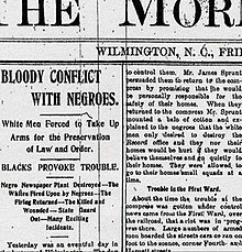 Wilmington insurrection of 1898 - Wikipedia