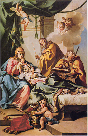 Francesco Monti (Bologna) - Death of St Anne, originally in church of San Zeno al Foro, Brescia.
