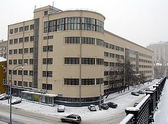 Stalinist architecture - Textile Institute (Moscow), constructivist building completed 1938