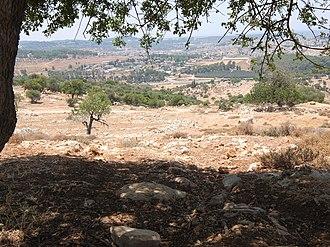 Zanoah - Image: Moshav Zanoah as seen from mountain in west
