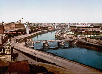 Moscow - Moskva riverside in the 19th century.