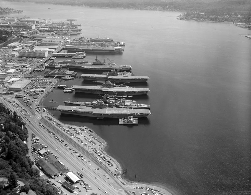 Mothballed ships at Puget Sound August 1992.jpg