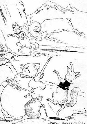 "Thornton Burgess - Harrison Cady's frontispiece to the Mother West Wind ""Where"" Stories depicting Burgess animal characters"