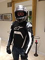 Motorcyclist in protective clothing front.JPG