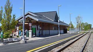 Mount Joy GO Station railway station in Markham, Canada