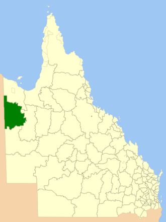 City of Mount Isa - Location within Queensland